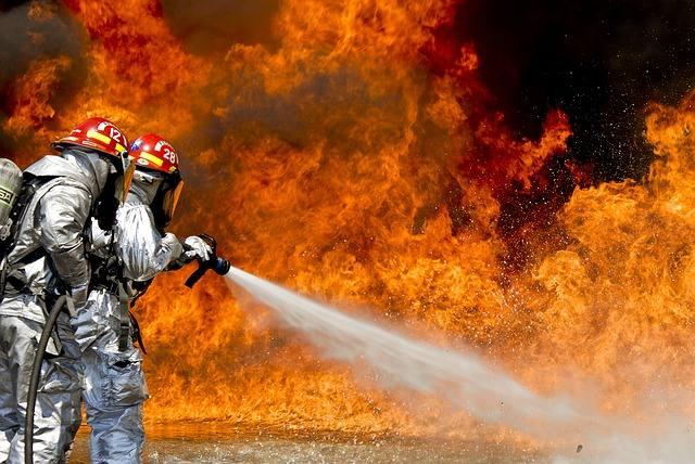 Pożar wysypiska w Polsce