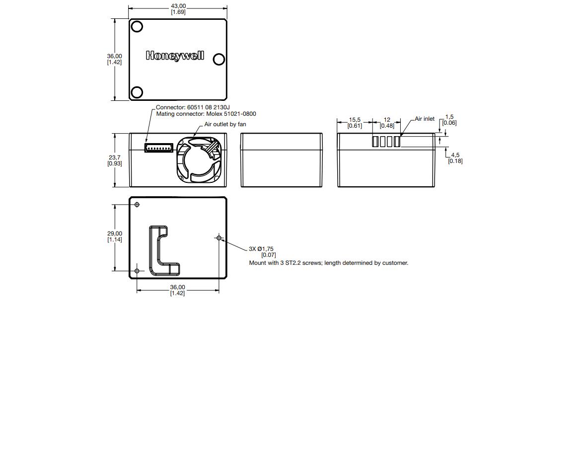 HPMA115S0-XXX wymiary